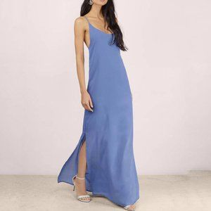 NWT Tobi Meet Your Match Blue Maxi Slip Dress